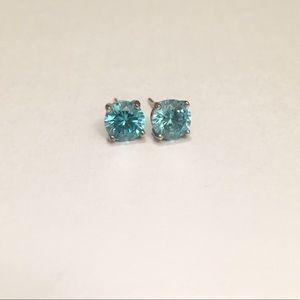 Cubic Zirconia Silver Studs